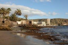 Beach in Los Cristianos, Tenerife Royalty Free Stock Photos