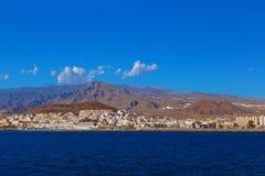 Beach Los Cristianos in Tenerife island - Canary Royalty Free Stock Photography