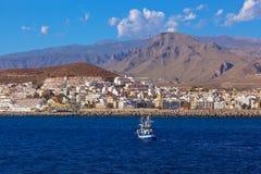 Beach Los Cristianos in Tenerife island - Canary Stock Photography