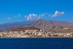 Beach Los Cristianos in Tenerife island - Canary Royalty Free Stock Photos