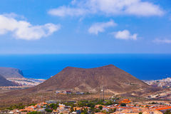 Beach Los Cristianos in Tenerife island - Canary Royalty Free Stock Images