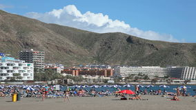 Beach in Los Cristianos, Tenerife, Spain Royalty Free Stock Photography