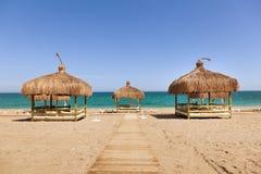 Beach lounge on the beach Stock Photo