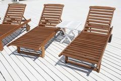 Beach lounge Stock Image