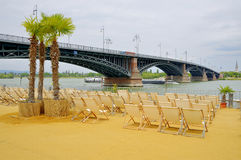 Beach Lounge in Mainz, Rhineland-Palatinate Royalty Free Stock Images