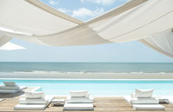 Beach lounge. On Sea view for vacation summer Stock Photography