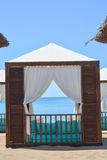 Beach lounge tent Stock Images