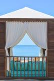 Beach lounge tent Stock Image