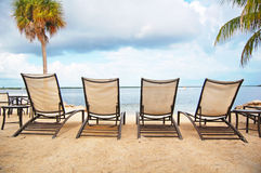 Beach lounger Stock Photos