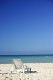 Beach Lounger. On deserted beach Royalty Free Stock Photo