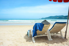 Beach lounges Royalty Free Stock Image