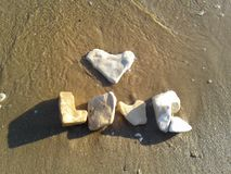Beach love royalty free stock image