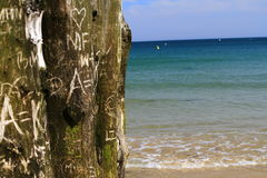 Beach of love. Sea love nature beach love eternity prove of love bluesea initials Stock Photos