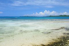 Beach at low tide. Beach at tide on the island of Siargao, Philippines Royalty Free Stock Photography