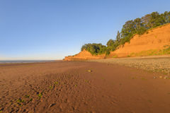 Beach at low tide. Blomidon beach at low tide (Blomidon Provincial Park, Nova Scotia, Canada stock photography