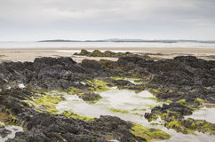 Beach at low tide at Rhosneigr Royalty Free Stock Image