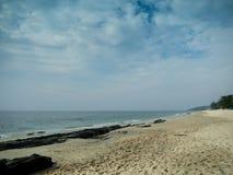 Beach on Lunta isaland stock image