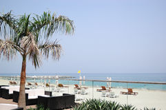 Beach of luxury hotel. Dubai, United Arab Emirates Stock Image