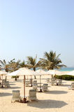 Beach of luxury hotel Royalty Free Stock Images