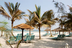 Beach of luxury hotel Royalty Free Stock Photo