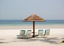 Beach of luxury hotel Royalty Free Stock Photo