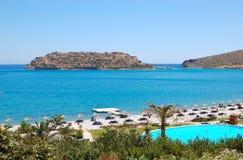 Beach of luxury hotel Stock Image