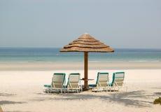 Beach of the luxury hotel Royalty Free Stock Photos