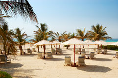 Beach of the luxury hotel Royalty Free Stock Photography