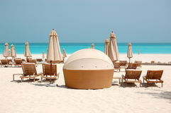 Beach of the luxury hotel Royalty Free Stock Images
