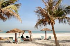 Beach of the luxury hotel Stock Photo