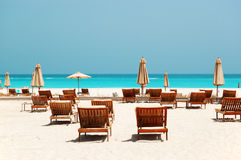 Beach of the luxury hotel Stock Image
