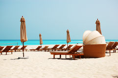 Beach of the luxury hotel Stock Photography