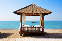 The beach at luxury hotel Royalty Free Stock Images