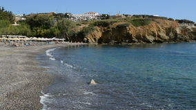The beach at luxury hotel. Crete, Greece stock video