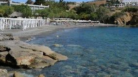 The beach at luxury hotel. Crete, Greece stock footage