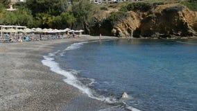 The beach at luxury hotel. Crete, Greece stock video footage