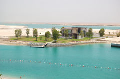 The beach of the luxury hotel and luxury villa. Abu Dhabi, UAE royalty free stock photography