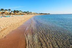 Beach at the luxury hotel Stock Images