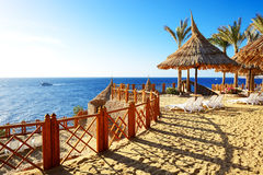 Beach at the luxury hotel Stock Image