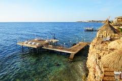 Beach at the luxury hotel, Sharm el Sheikh Royalty Free Stock Photo