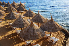 Beach at the luxury hotel, Sharm el Sheikh Royalty Free Stock Photography