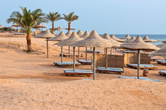 Beach at the luxury hotel, Sharm el Sheikh Stock Photos