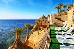Beach at the luxury hotel Royalty Free Stock Photography