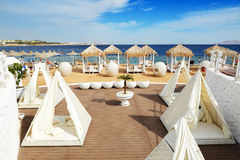 Beach at the luxury hotel Royalty Free Stock Photo