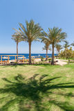 Beach at the luxury hotel, Sharm el Sheikh, Egypt Stock Image