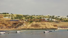 Beach at the luxury hotel, Sharm el Sheikh, Egypt Stock Photo