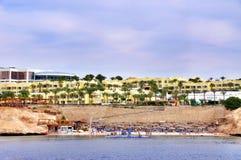 Beach at the luxury hotel, Sharm el Sheikh, Egypt Royalty Free Stock Photos