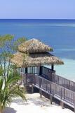 Beach luxury wood deck Royalty Free Stock Image