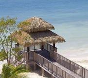 Beach luxury wood deck Stock Photo