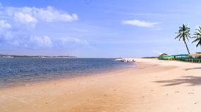 gunga beach in maceio stock photo